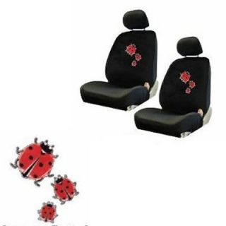 pc Red Ladybug Lady Bug Bugs Black Low Back Front Bucket Car Seat