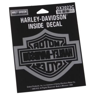Harley Davidson Chrome Bar & Shield Inside Window Decal