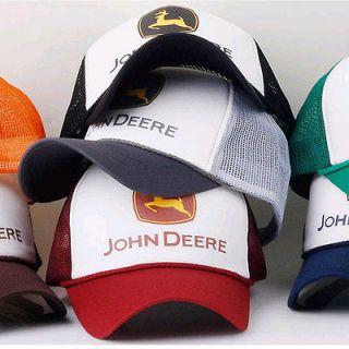 MENS WOMENS BOYS GIRLS DEERE MESH BASEBALL CAPS TRUCKER BALLCAP HATS