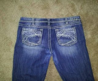 Womens Silver Jeans Size 36x33 Aiko Bootcut