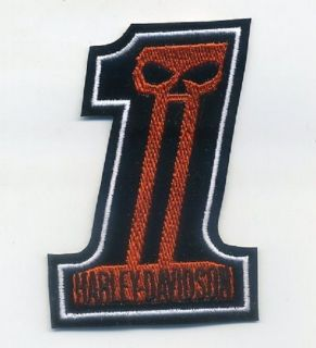 RACER ROCKERS 59 TON UP BOY OUTLAW BIKER PATCH: Number 1 Skull 4 Red