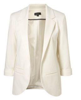 Women Boyfriend Candy Coloured Roll Cuff Blazer Jacket Suit