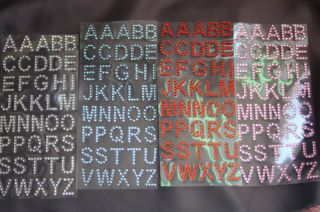 Rhinestone Alphabet Letters Self Adhesive Scrapbooking Stickers