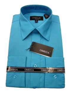 MENS TURQUOISE DRESS SHIRT ALL SIZES, LENGTH