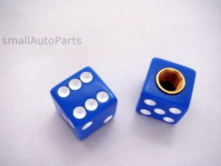 Blue Dice Old School BMX Bike Tire Stem Valve Caps Covers