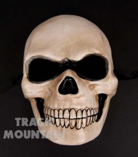 Skull Skeleton Paper Mache Mask Full Day of the Dead Dia de los