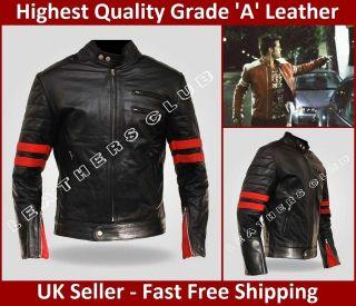 Mens HYBRID Fight Club Mayhem Tyler Durden Black Motorcycle Leather