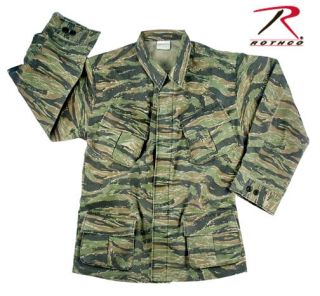 FATIGUE SHIRT VINTAGE VIETNAM WAR STYLE TIGER STRIPE CAMO ROTHCO 4621
