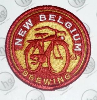 New Belgium Brewing Company BICYCLE LOGO PATCH Round Fat Tire Beer