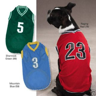 Dog Jersey Casual Canine All Star Hoops Shirt Blue XS