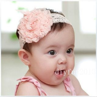 baby girl flower headband in Hair Accessories