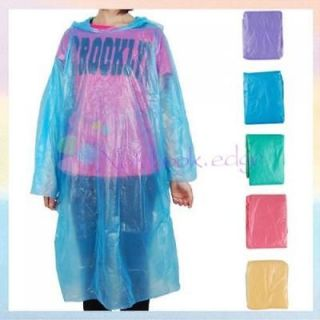 Waterproof Disposable Plastic PE Raincoat Rain Poncho