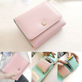 Classic Colors Women PU Leather Wallet Clutch Trifold Bag coin Purse