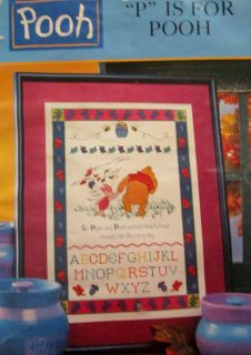Leisure Arts Disney P is for Pooh Cross Stitch Pattern Book Tigger