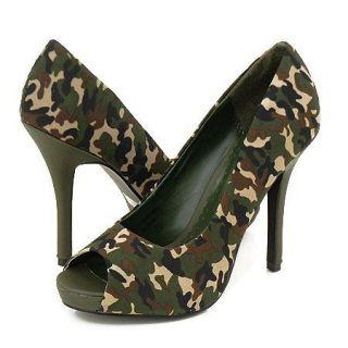 camouflage heels in Heels