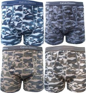 Camouflage Calvin Classics Mens Boxer Shorts All Sizes S,M,L,XL,XXL