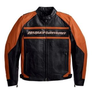 HARLEY MENS OCTANE LEATHER JACKET 97191 10VM OBSOLETE