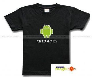 Android Logo Google Phone OS IT Geek T Shirt Tee B/W