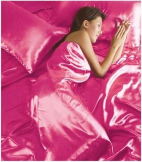 Satin Complete Bedding Sets Duvet Cover Fitted Sheet & Pillowcases