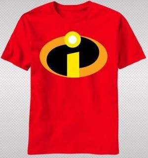 Incredibles Logo Emblem Hero Suit Funny Family Movie Adult T shirt top