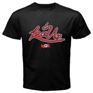 listed MGK Machine Gun Kelly Lace Up Rap Hip hop T shirt Size S   2XL