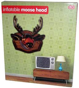 INFLATABLE MOUNTED MOOSE HEAD ROOM DECOR BLOW UP MOOSE BUST HUNTERS
