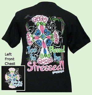 Girlie Girl Originals STRESSED, Black shortsleeve ADULT t shirt