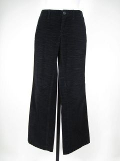 MISS SIXTY Black Corduroy Boot Cut Pants Slacks Size 25