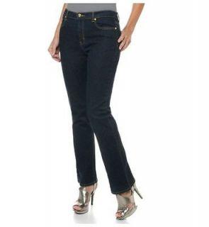 DG2 Diane Gilman Stretch Indigo Boot Cut Jeans with Concho Rivets Sz