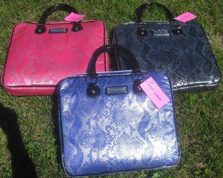 Betsey Johnson Metallic Python Black Pink Blue Laptop Case Sleeve Bag