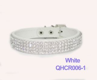 Croc Dog Cat Rhinestone Collars Crystal Diamond Pet Dog Puppy Pu
