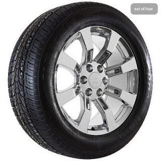 chrome Chevy 2012 Silverado 2012 Suburban truck wheels rims and tires