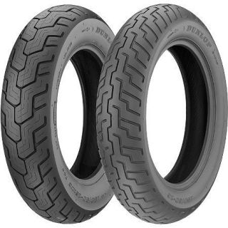DUNLOP D404 MOTORCYCLE TIRE SET130/90 17 REAR 100/90/18 FRONT BLACK