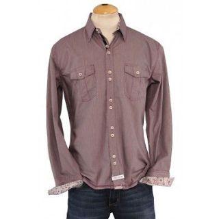 Mens Purple Woven Beatles ENGLISH LAUNDRY JOHN LENNON Shirt Size XL X