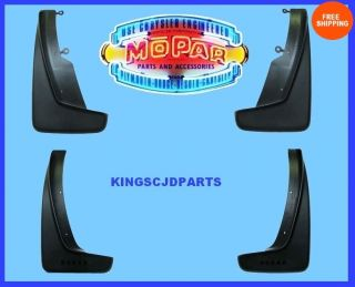 2013 DODGE DURANGO SPLASH GUARDS MUD FLAPS MOPAR OEM (Fits Dodge
