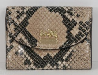 NEW COACH MADISON NATURAL PYTHON LEATHER BUSINSS ID CARD CASE MINI