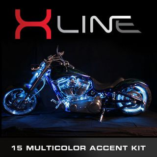 MILLION COLOR LED ACCENT LIGHTS HARLEY DAVIDSON MOTORCYCLE LIGHT KIT