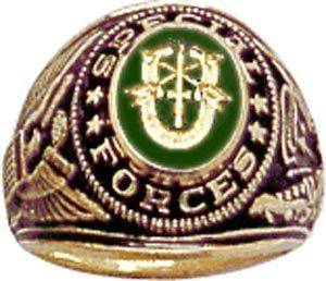 US Army Sterling Ring Jewelry Special Forces Mens DE OPPRESSO LIBER