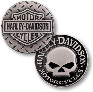 Harley Davidson Diamond Plate Willie G. Skull Challenge Coin Medallion