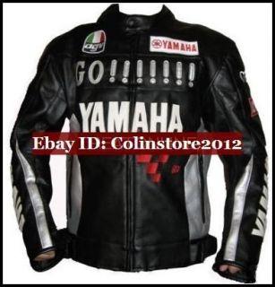 Motorcycle Motor Racing YAMAHA GO Leather Jacket M XXL NEW R1