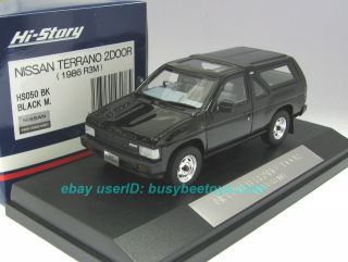 HI STORY GICO 1986 NISSAN TERRANO R3M BLACK pathfinder resin model car