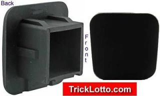 Hitch Cover Plain Black SUV pick up trucks RV Toyota Jeep plug boats