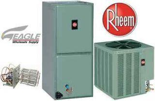 Ton Rheem 13 SEER R 410A Heat Pump Split System