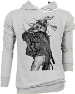 Lady Gaga Born This Way Punk Rock T Hoodie Jumper S,M,L