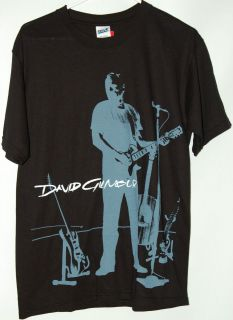 David Gilmour On An Island black T Shirt tee Pink Floyd guitarist