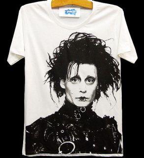EDWARD SCISSORHANDS Johnny Depp Retro Movie T Shirt S/M