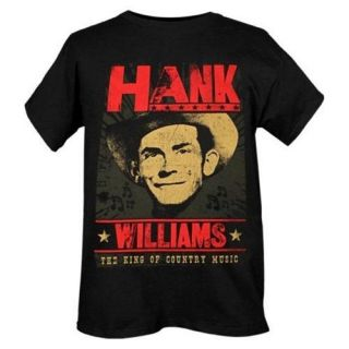HANK WILLIAMS FACE COUNTRY MUSIC TSHIRT NEW S,M,XL NWT