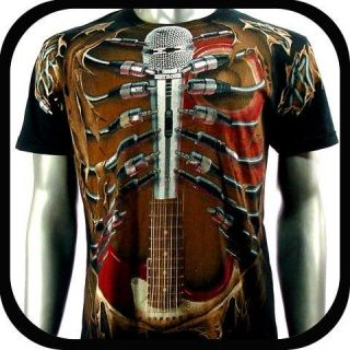 Shirt Tattoo Rock AB47 Sz M L XL XXL Guitar bmx Graffiti Punk