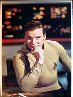 Captain Kirk   William Shatner   poster   Paramount 1976