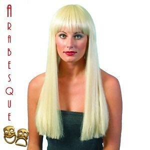 LONG BLONDE DELUXE WIG AGNETHA FRINGE STYLE ABBA